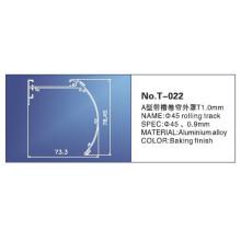 28mm, trilho principal de 38mm, peças das cortinas, T-022