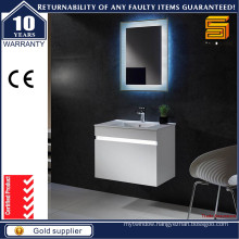 Modern Wall Mounted LED White Bathroom Vanity Cabient with LED Mirror
