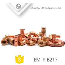 EM-F-B217 Customized full size copper pipe fitting
