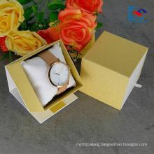 Free Sample Custom Logo White Art Paper Watch Drawer Paper Box With Pillow Insert
