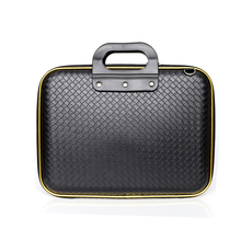 Laptop Bag Portable Business Briefcase Laptop Handbag, Weave Crossbody Satchel Casual knitted PU computer Shoulder Bag