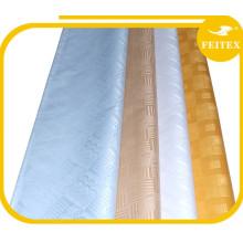 Tissu de jacquard africain tissu 100% coton brocade damassé shadda pour la fête de mariage