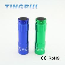 Portátil de color mini linterna de bolsillo portátiles flash luz led