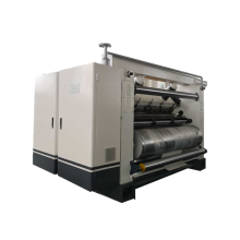 Heat exchange type single facer machine for corrugated board making