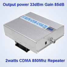 33dBm Potencia de salida 85dB Ganancia CDMA850MHz Cell Phone Signal Booster