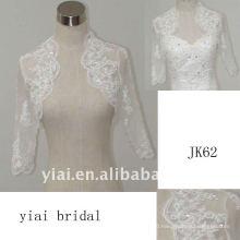 JK62 women Beaded Long sleeves wedding jacket