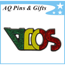 Metal Cut out Brooch Pin Badge in Glitter Cloisonne (badge-148)
