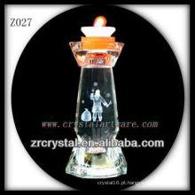 Suporte de vela de cristal popular Z027