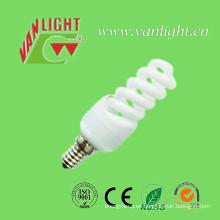 Lámparas CFL RoHS bulbo ahorro de energía de espiral completo E14/E27 de 11W