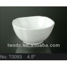 Restaurant and hotel tableware super white porcelain bowl