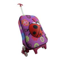 Sac d'école des enfants avec des personnages de dessin animé mignon chariot
