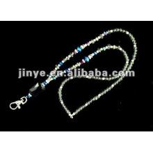 Llavero hecho a mano de cristal de Bling con cordón de la langosta