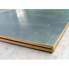 Placa de Aço Revestida ASME A264, SA516 Gr. 70 + placa folheada ligada explosão de aço inoxidável frente e verso, placa de aço do revestimento explosivo