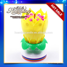 flower birthday candle with music / birthday candle with flowers
