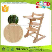 EU Market Popular Type Wooden High Chair for Baby Sitting