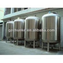 Tanque de almacenamiento de agua de acero inoxidable para la planta de purificación de agua