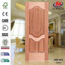 JHK-003 Thickness 3mm Special 3+1 Panels Apartment Project EV- Sapelli Veneer Texture Molded Ellipse Door Panel