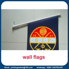 Bannières de drapeaux imprimés recto-verso à montage mural