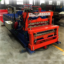 Professional Design Double Wave Galvanized Roofing Sheet Roll Forming Machine Exported Turkey
