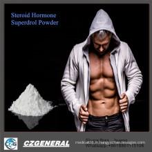 Poudres stéroïdes de Methyldrosta-Nolone Superdrol de pureté de la poudre 99% de bodybuilding d'hormone