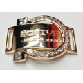 Zinc Alloy Shoe Buckle with Crystal Diamante