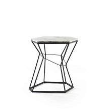 Hot sale Supplier Square Shaped Artificial Marble Side Table For Living Room Furniture Tea Table