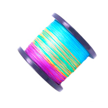 BRLN100 deep sea tuna squid fabric 8 strands multi color pe spectra braided braid fishing line