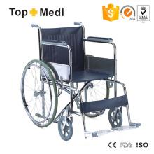 Manueller behinderter Stahltransit-Rollstuhl