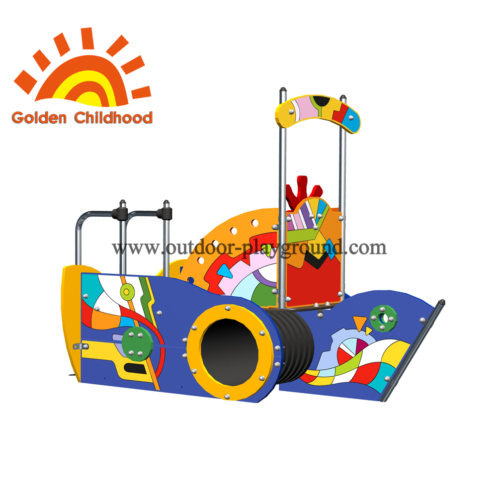 Colorful Picture Ship Outdoor Playground Equipment For Children
