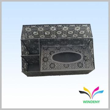 Office items black metal napkin tissue paper holder