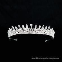 Серебряный кристалл горный хрусталь корона очарование свадебные балетные головные уборы балетные аксессуары тиара для женщин