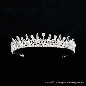 Silber Kristall Strass Krone Charm Braut Ballett Kopfbedeckungen Ballett Zubehör Tiara für Frauen