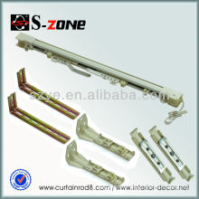 curtain rail track pole corded accessories double plastic gliders window system