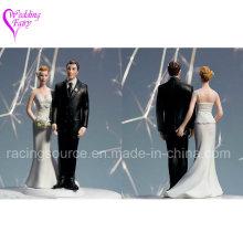 The Love Pinch Caucasian Couple Wedding Cake Topper Figurine