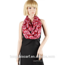 2016 Spring/Summer Lady's classic printed polyester voile round scarf loop scarf