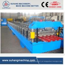 Máquina formadora de rolos de perfil para telhados de aço colorido de alta velocidade