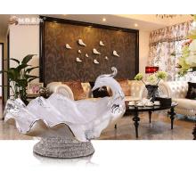Home Dekoration Zubehör Harz Pfau Obst Schale furit Tablett für Esszimmer