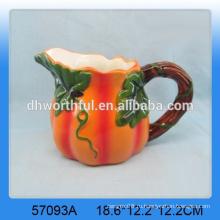 Прекрасный оптовый керамический молочный кувшин тыквы на День урожая