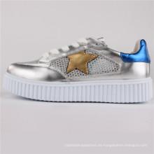 Zapatos de mujer PU / Cuero / Zapatos de malla Zapatos casuales Snc-65003-Slv