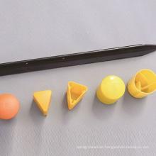 y star picket plastic yellow garden building y post caps