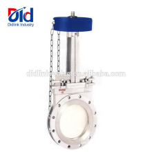 8 Size Brass Dn400 Drawing Cad Stem Extension Yudo Ceramic Seat Open Knife Gate Valve With Handwheel