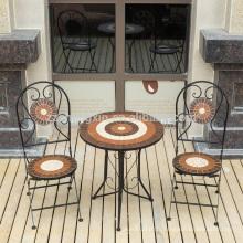 Ensemble de table en mosaïque pour meubles de jardin royal portable