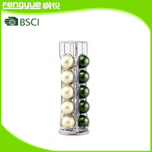 2016 New Design Chrome Plating Vertuoline 20PCS Coffee Capsule Rack