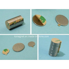 Ímanes de disco com fita adesiva