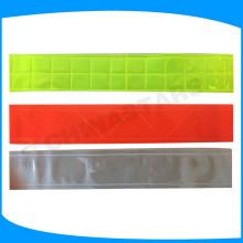 Cinta reflectante de PVC, micro prisma de material reflectante para la ropa de seguridad