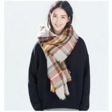 Mulheres grande elegante quente manta cobertor cachecol lindo envoltura xale (80016-1)