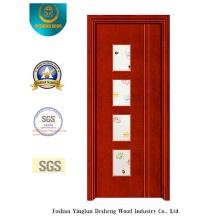 Porta de aço estilo chinês com quatro cozinha de vidro (s-1025)