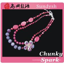 2014 handmade garnet stone chain crystal gemstone latest new simple latest wedding diamond bead necklace designs for ladies suit