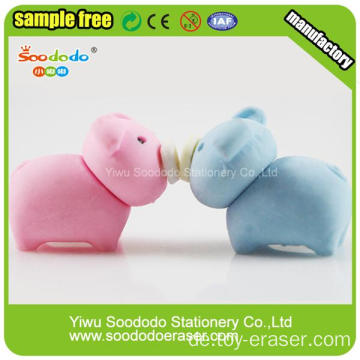 Hottest Selling Fancy Schwein geformt Cute Radiergummi