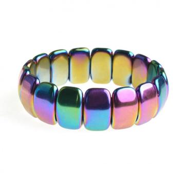 Colorful Magnetite Wide Cuff Healing Bracelet for Men